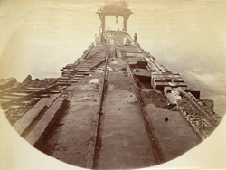 K.H.W. [Karachi Harbour Works]. Centre joint after SW monsoon, 1871. About 1/5 length complete.